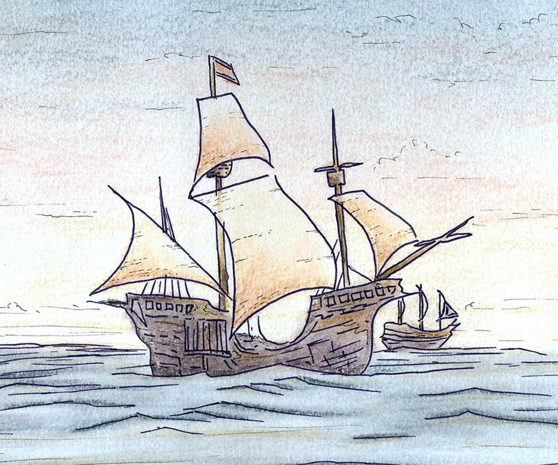 Zeilschip illustratie